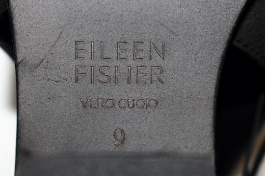 Eileen Fisher Crossover Peep Toe Black Boots Image 7