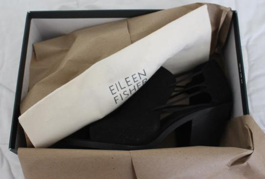 Eileen Fisher Crossover Peep Toe Black Boots Image 8