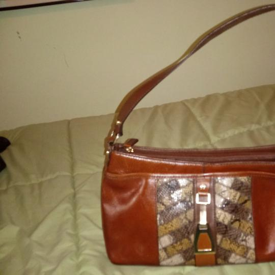 Preload https://item2.tradesy.com/images/etienne-aigner-brown-with-snakeskin-inset-excellent-condition-leather-satchel-25839326-0-0.jpg?width=440&height=440
