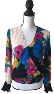 Plenty by Tracy Reese Top Black,Pink,Yellow,&Blue