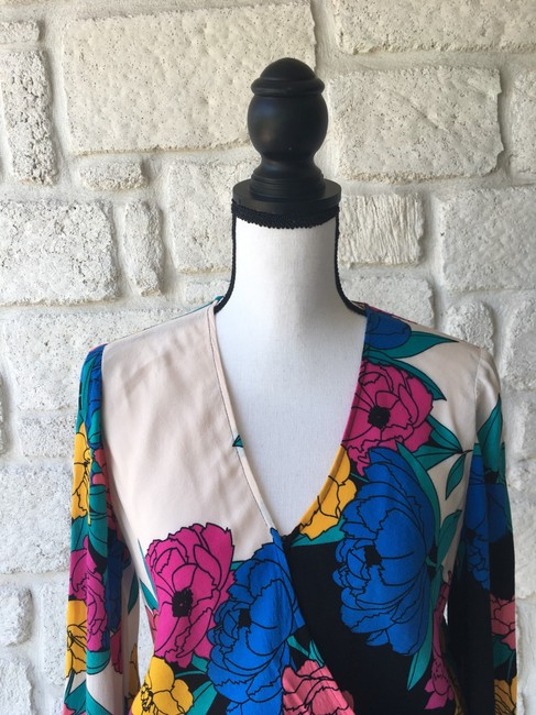 Plenty by Tracy Reese Top Black,Pink,Yellow,&Blue Image 1