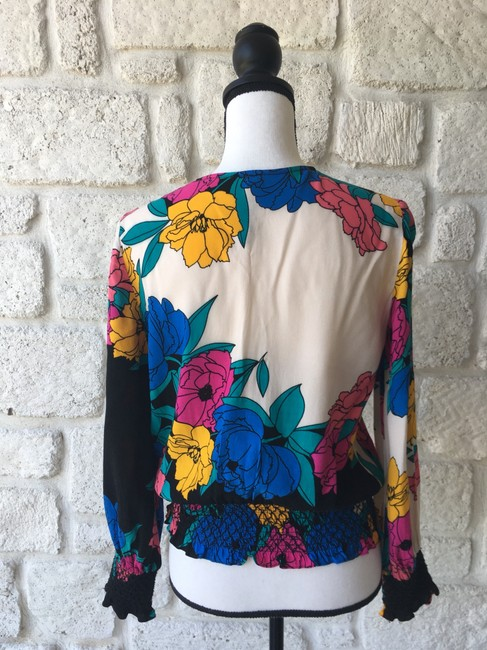 Plenty by Tracy Reese Top Black,Pink,Yellow,&Blue Image 2
