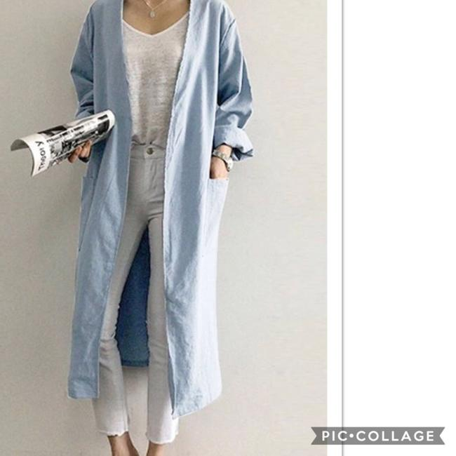 Blu Trends Light Denim Blue Blazer Image 1