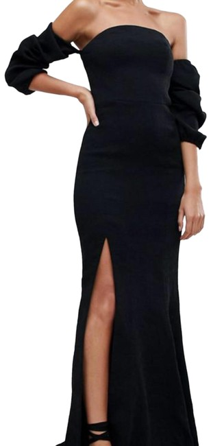 Preload https://img-static.tradesy.com/item/25839404/cmeo-collective-black-cmeo-off-shoulder-split-long-formal-dress-size-8-m-0-1-650-650.jpg