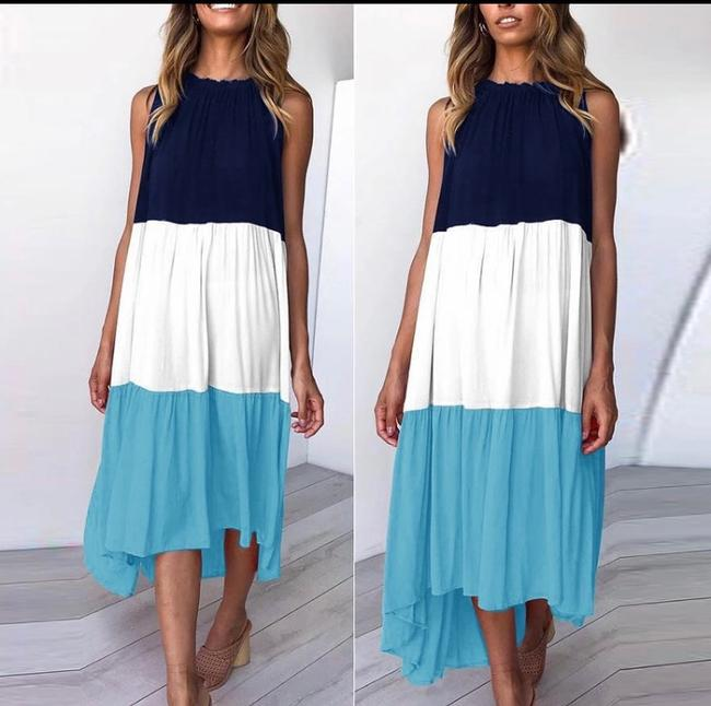 Blue Maxi Dress by Blu Trends Image 1