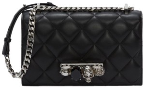 Alexander McQueen Jeweled Skull Duster Cross Body Bag