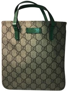 Gucci Satchel in Beige and Green
