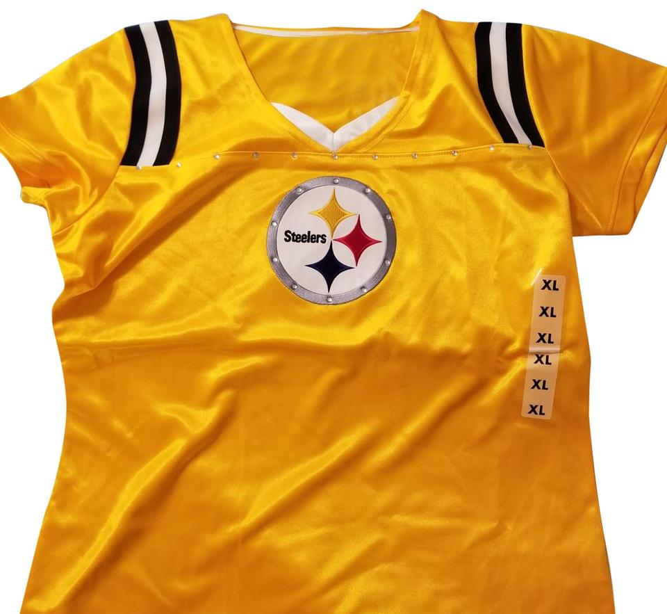 competitive price 3e3c2 1e364 NFL Team Apparel Gold Pittsburgh Steelers Tee Shirt Size 16 (XL, Plus 0x)