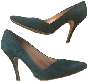 Madewell Suede Emerald Mira Gallery Green Pumps