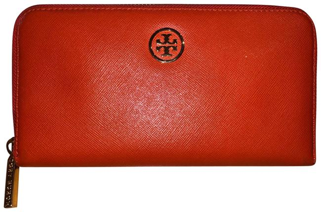 Item - Blood Orange with Orchid Pink Lining Robinson Zip Wallet