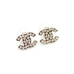 Chanel Small Silver CC Crystals Classic Studs 07V