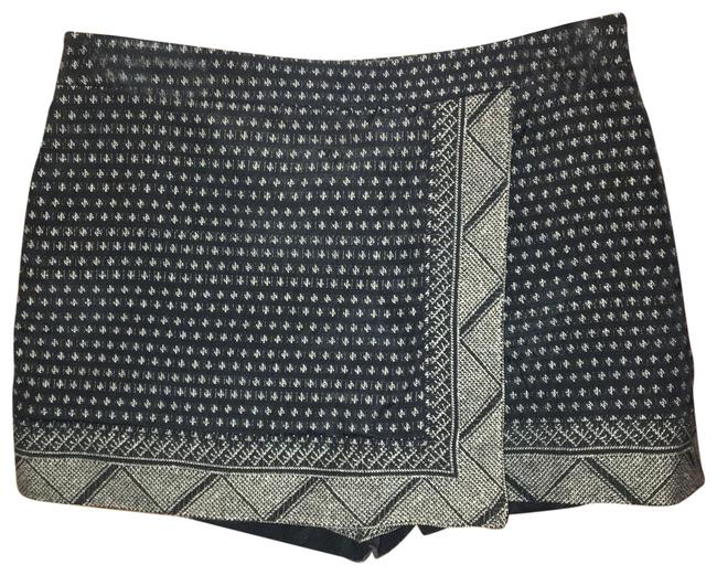 Item - Black & Gold Patterned Shorts Size 4 (S, 27)