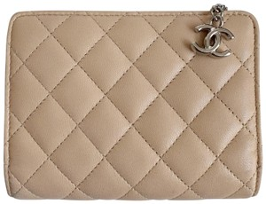 Chanel Chanel Lambskin Quilted Compact Wallet