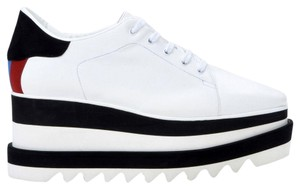 Stella McCartney Leather Sporty Modern White & Black Platforms