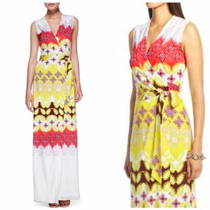 Indian Borders Yellow Maxi Dress by Diane von Furstenberg