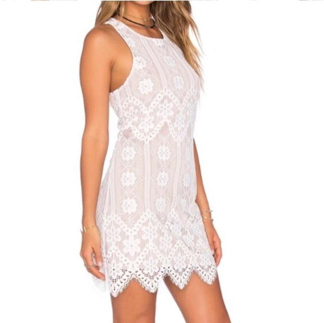 Item - White Nude Revolve Racerback Lace and Mini Short Casual Dress Size 0 (XS)