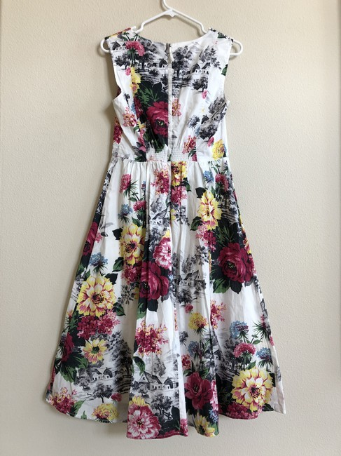 Anthropologie Sleeveless Floral Fit And Flare Dress Image 3