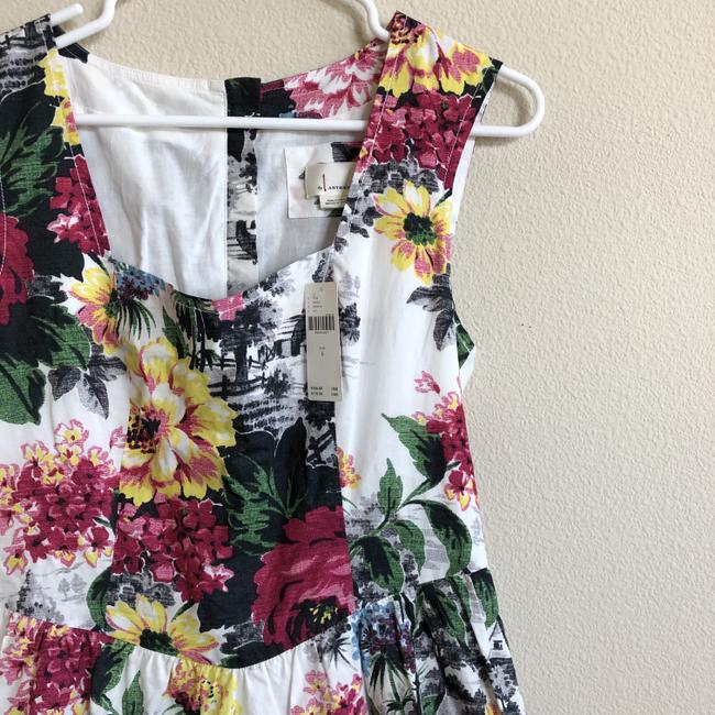 Anthropologie Sleeveless Floral Fit And Flare Dress Image 4