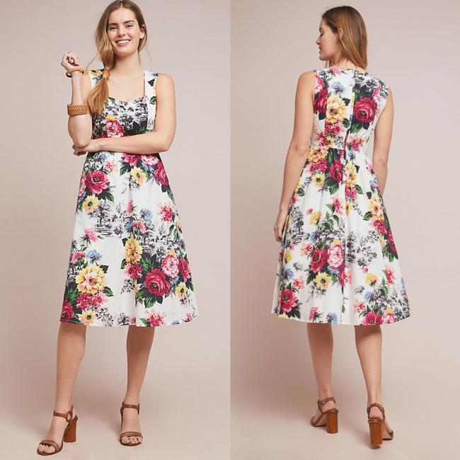 Anthropologie Sleeveless Floral Fit And Flare Dress Image 1