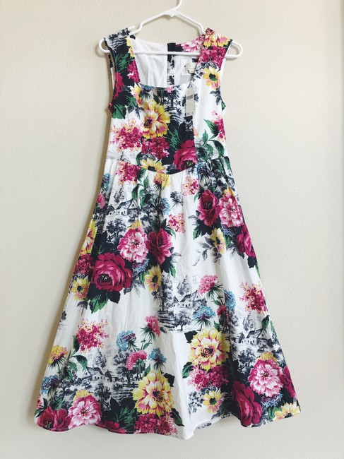 Anthropologie Sleeveless Floral Fit And Flare Dress Image 2