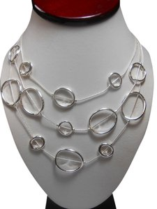 Chico's Chico's Samie Necklace ~ 3 strand Silver metal circles ~ Samie Necklace by Chicos