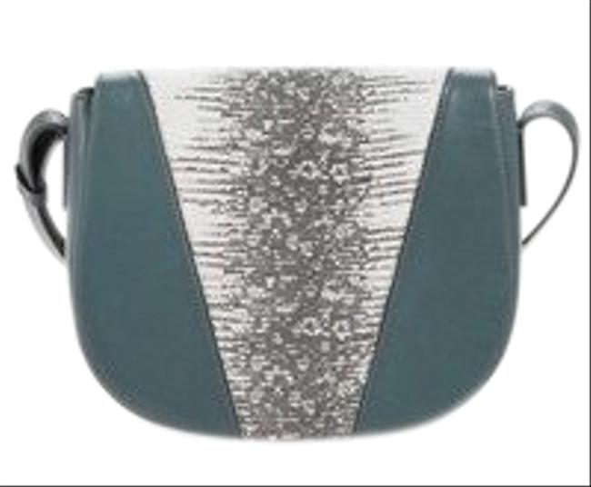 Vince Teal & Snakeskin Cross Body Bag Vince Teal & Snakeskin Cross Body Bag Image 1