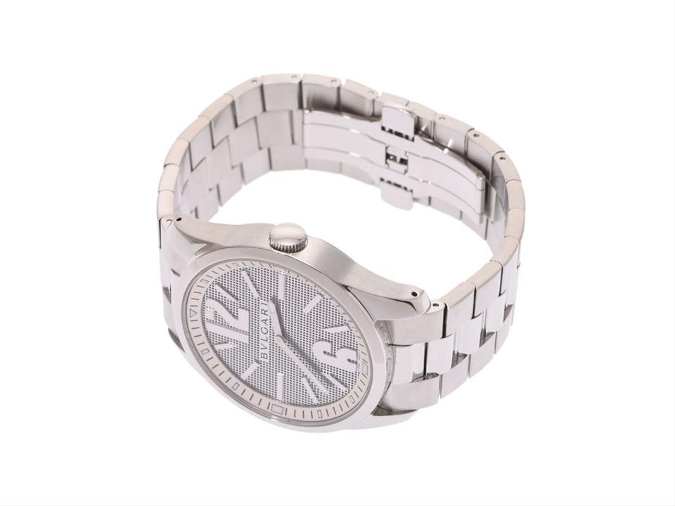 designer fashion ee0a3 cf84a BVLGARI Solotempo Stainless Steel Quartz Mens St42s Watch