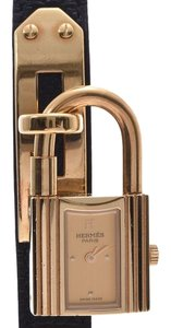 Hermès HERMES Kelly Watch Gold Plated Leather Quartz Ladies Watch