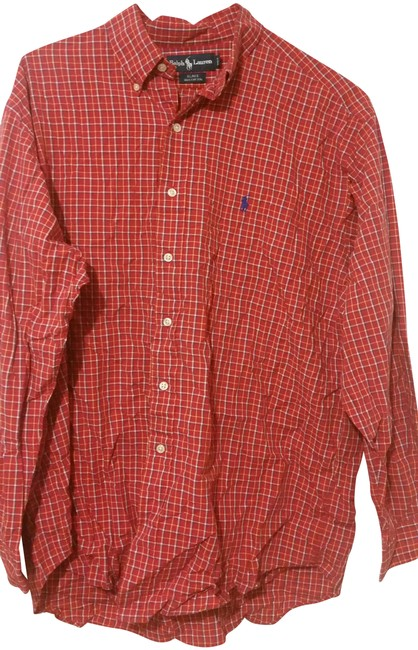 Item - Red Button-down Top Size 12 (L)