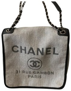 Chanel grey and black Messenger Bag