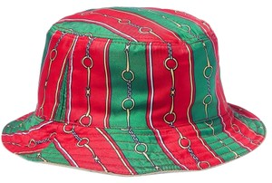 Gucci Gucci Reversible Velvet and Silk Bucket Hat Size Medium