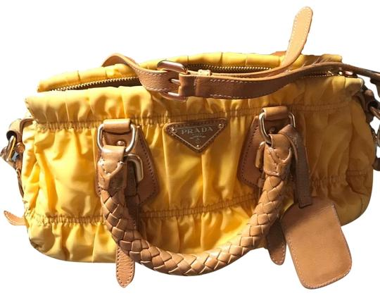 Shoulder Bag Top Mimosa Satin Fabric With Leather Handle Baguette by Prada