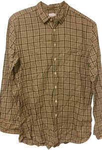 Paul Smith Checkered #red Shirts Button Down Shirt light brown