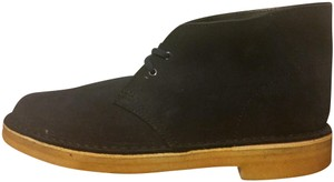 Clarks Mens Ankle Comfy Leather dark blue Boots