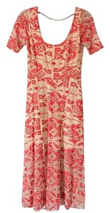 Tan & Red Maxi Dress by Line & Dot Lineanddot Revolve Bohodress Embroidered