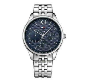 Tommy Hilfiger Tommy Hilfiger Watch Damon Multi-Function Mens Analog Business Silver