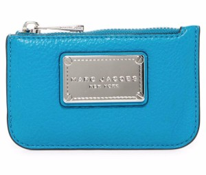 Marc Jacobs Marc Jacobs Classic Turquoise Leather Key Pouch