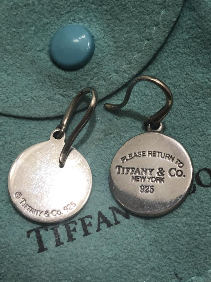 53611c3714859 Tiffany & Co. Sterling Silver Return To Round Tag Drop Earrings