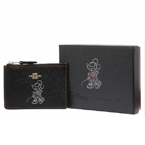 Coach Limited Special Edition Rare Coach x Minnie Mouse Pebbled Change Purse Bag Charm Key Chain