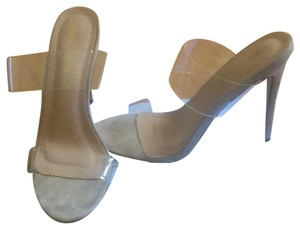 Chase & Chloe nude Mules