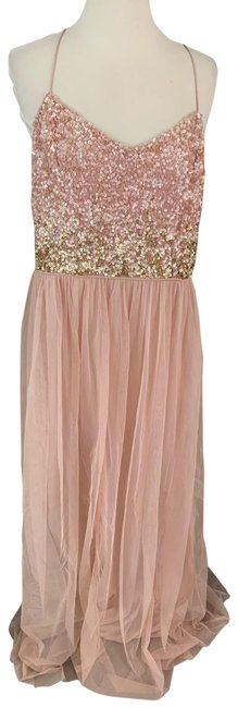 Item - Blush Sequined Evening Long Night Out Dress Size 16 (XL, Plus 0x)