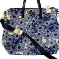 Prada Nylon Floral Tote in blue
