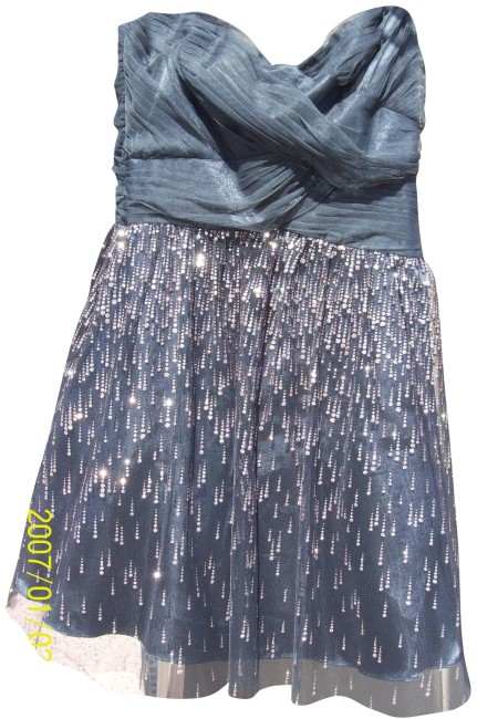 Preload https://img-static.tradesy.com/item/25842859/papell-boutique-gray-and-silver-sparkle-strapless-short-formal-dress-size-10-m-0-1-650-650.jpg