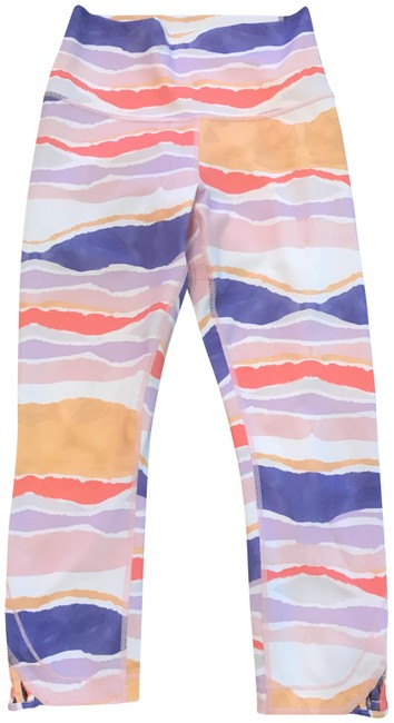 Item - Pink Multi Stripe High-waisted Activewear Bottoms Size 6 (S, 28)