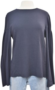 Creatures of the Wind Flowy Bell Sleeve Contemporary Top Navy