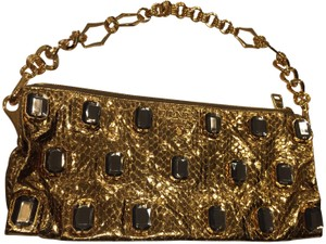 Prada gold Clutch