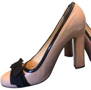 Kate Spade Dusty Pink and Black Platforms