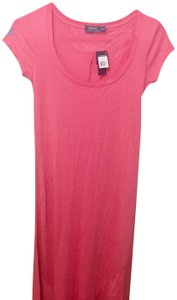Polo Pink Dress Long Cap Neck Casual Scoop 2xs55Off Retail Lauren Ralph Maxi Size Xs Sleeve byvIY6gf7