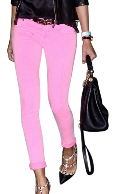 Item - Neon Pink Skinny Jeans Size 8 (M, 29, 30)