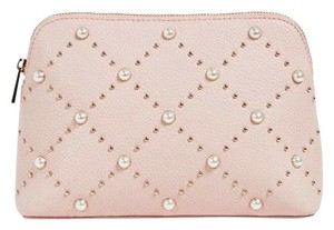 Kate Spade NWT Kate Spade Hayes Street Pearl Small Briley Cosmetic Bag Warm Vellum Pink $128